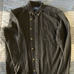 Pull and Bear Mens long sleeve shirt. Faded Denim.